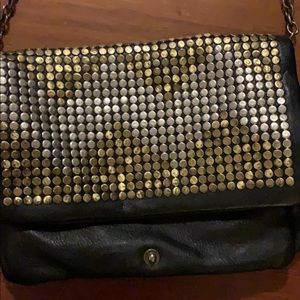 Last Chance!  Black Leather & Studded Bag